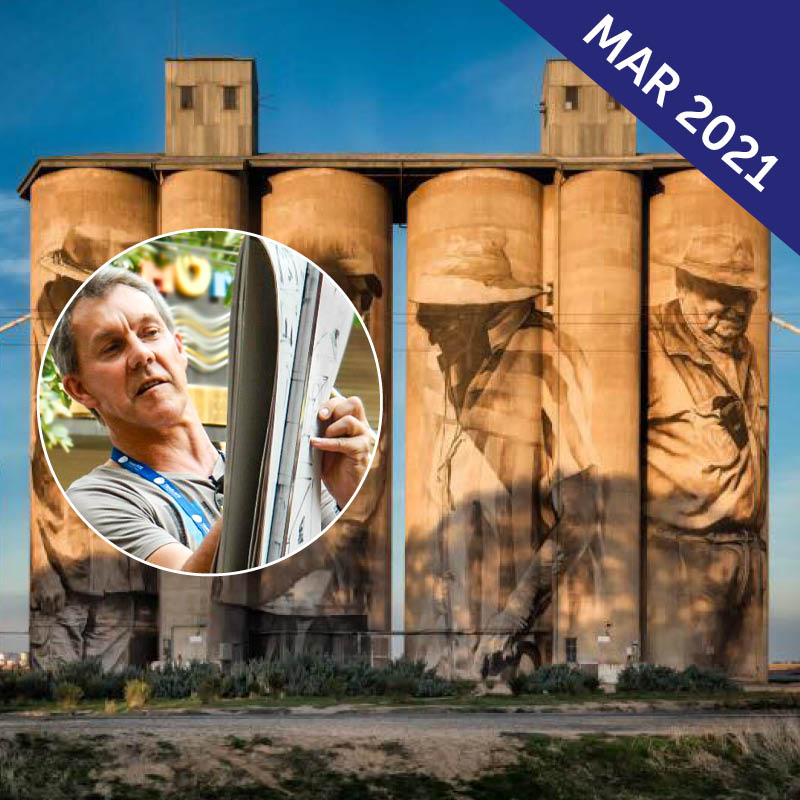 Silo Art Trail Painting Workshop with Greg Allen
