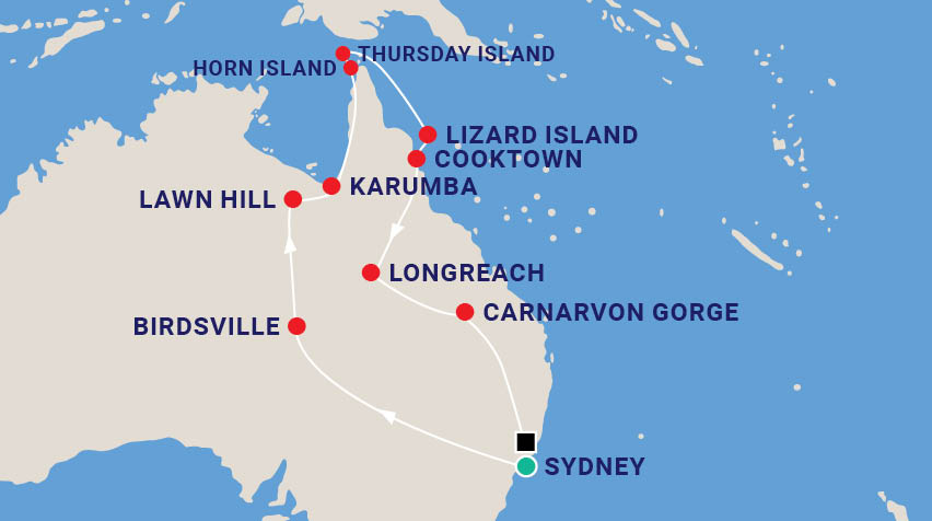 Cape York Air Safari Map