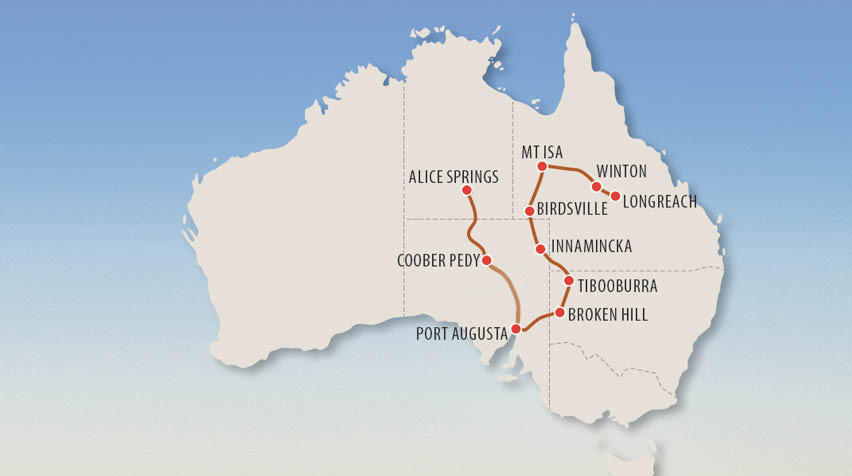 Senior Outback Australia Tour Map
