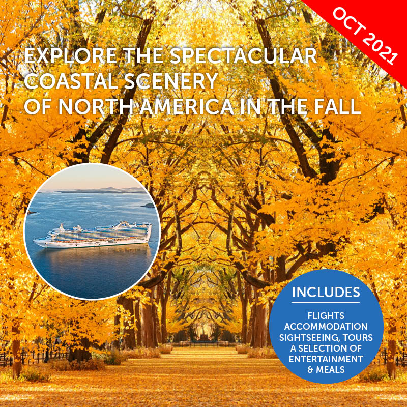 Fall Colours Cruise to USA & Canada