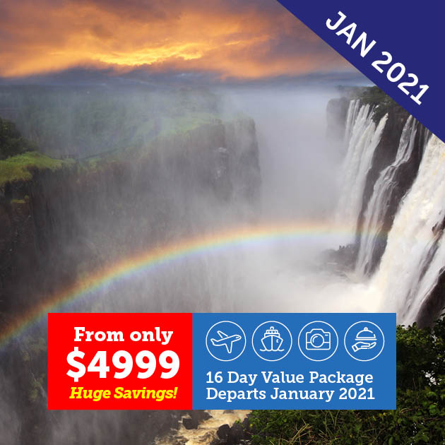 Natural Wonders of Southern Africa Cruise & Tour